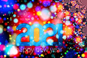 Bakgrundsbilder på skrivbordet Nyår 2021 Text Engelska