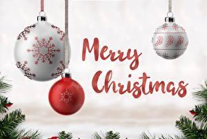 Desktop wallpapers Christmas Balls Word - Lettering English