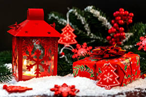 Wallpapers New year Candles Gifts Christmas tree