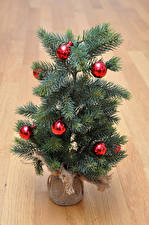 Image New year Christmas tree Balls