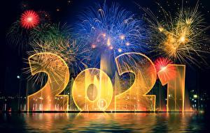 Bakgrundsbilder på skrivbordet Nyår Fyrverkeri 2021