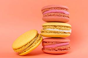 Fonds d'écran En gros plan Arrière-plan coloré Macaron Multicolor Nourriture images