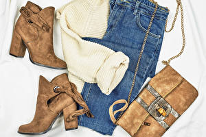 Wallpapers Clothes Handbag Jeans Boots Sweater
