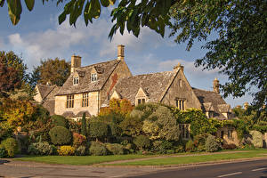 Pictures England Houses Village Bush Chipping Campden, Cotswold District Cities