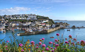 Image England Building Pier Riverboat Bay Mevagissey Cities