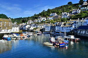 Images England Building River Marinas Riverboat Boats Polperro Cornwall Cities