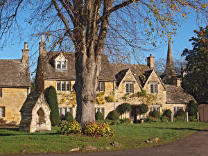Desktop wallpapers England Building Village village Lower Slaughter Cities