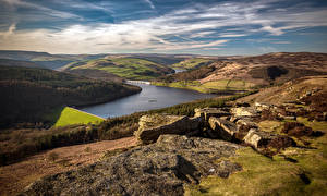 Pictures England River Landscape photography Hill Bamford Edge, Derbyshire Nature