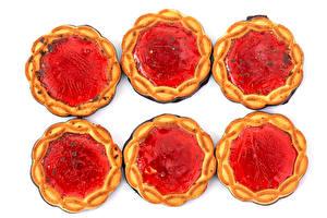 Photo Gelatin dessert jelly Cookies White background