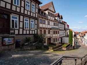 Picture Germany Houses Street Blankenburg (Harz)
