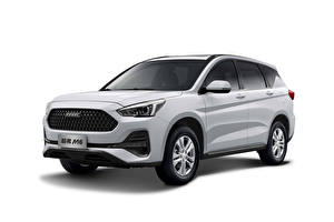 Fotos Haval Weiß Softroader Chinesischer Weißer hintergrund M6, 2019 Autos