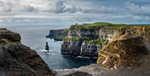 Fondos de escritorio Irlanda Costa Océano Roca Cliffs of Moher Naturaleza