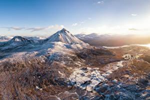 Fondos de escritorio Irlanda Montaña Nieve Dunlewey, Donegal Naturaleza
