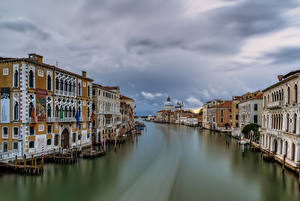 Images Italy Houses Canal Venice Cities