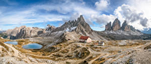 Wallpaper Italy Mountains Landscape photography Alps Clouds South Tyrol, Dolomites, panorama