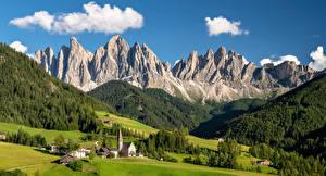 Hintergrundbilder Italien Gebirge Alpen Ein Tal South Tyrol, Dolomites Natur