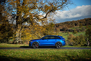 Images Jaguar Blue Metallic Side CUV F-Pace SVR, 2020 auto