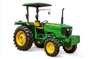 Bilder Traktoren Grün Weißer hintergrund John Deere 5045D, 2008 --