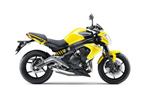 Pictures Kawasaki Yellow White background