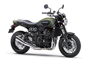 Pictures Kawasaki White background Side Z900 RS, 2018 Motorcycles