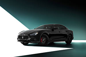 Wallpapers Maserati Black Ghibli S Q4 GranSport Nerissimo Pack (M157), 2020 automobile
