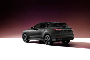 Bureaubladachtergronden Maserati Cross-over auto Grijs Levante S Q4 GranSport, (M161), 2020 Auto