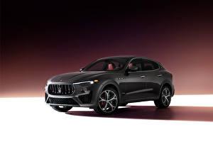Bureaubladachtergronden Maserati Cross-over auto Grijze Levante S Q4 GranSport, (M161), 2020 Auto