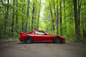 Bakgrunnsbilder Mazda Rød Sett fra siden RX-7 automobil
