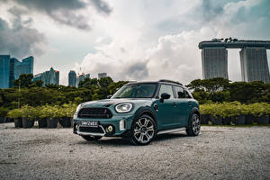 Wallpapers Mini Metallic Green Cooper S Countryman ALL4, SG-spec, (F60), 2020 Cars