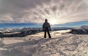 Sfondi desktop Montagna Neve Nubi