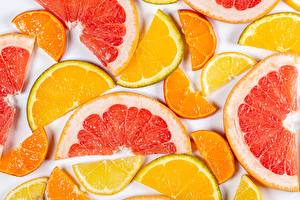 Desktop wallpapers Orange fruit Lemons Citrus Grapefruit Piece Food