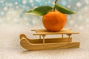 Image Orange fruit Sledge Leaf Orange