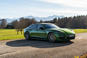 Picture Porsche Green Metallic Panamera 4S Worldwide, (971), 2020 Cars