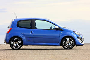 Wallpaper Renault Blue Metallic Side  Cars