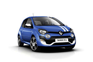 Pictures Renault Blue White background  auto