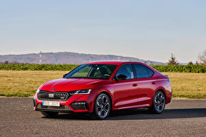 Wallpapers Skoda Red Metallic Octavia RS, Worldwide, 2020 Cars