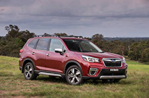 Image Subaru Hybrid vehicle Wine color Metallic Crossover 2020 Forester Hybrid S Cars