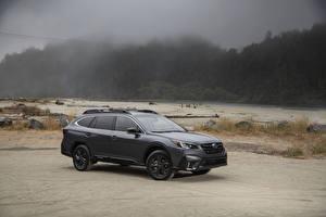 Bureaubladachtergronden Subaru Grijs Cross-over auto 2020 Outback Onyx Edition XT auto's