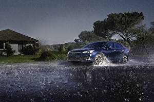 Photo Subaru Rain Blue 2020 Impreza Limited Sedan automobile