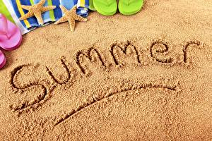 Photo Summer Sand English Text