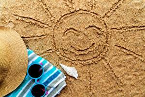 Picture Sun Sand Glasses Smile