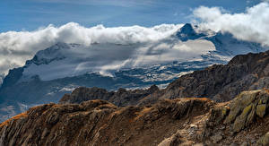 Bilder Schweiz Gebirge Alpen Wolke Felsen Ticino Natur