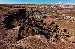 Wallpapers USA Park Stone Crag Petrified Forest National Park Nature