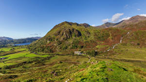 Pictures United Kingdom Mountains Wales Snowdonia, North Wales Nature