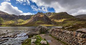 Fotos Vereinigtes Königreich Stein Fluss Wales Wolke Snowdonia Natur