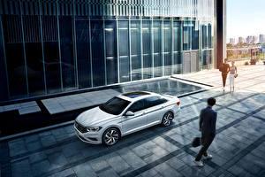 Sfondi desktop Volkswagen Bianco 2019-20 Sagitar 280 TSI automobile