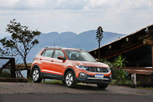 Hintergrundbilder Volkswagen Orange Metallisch 2019-20 T-Cross 250 TSI Highline Latam automobil