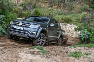 Sfondi desktop Volkswagen Grigio Pick-up Metallizzato 2020 Amarok Double Cab