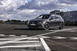 Tapety na pulpit Volkswagen Szary Metaliczna 2020 Golf GTD Worldwide samochód
