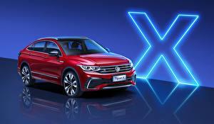 Bakgrunnsbilder Volkswagen Rød 2020 Tiguan X 380 TSI 4MOTION R-Line automobil